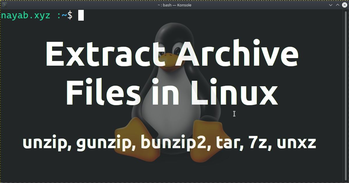 Extraction of Archive Files in Linux