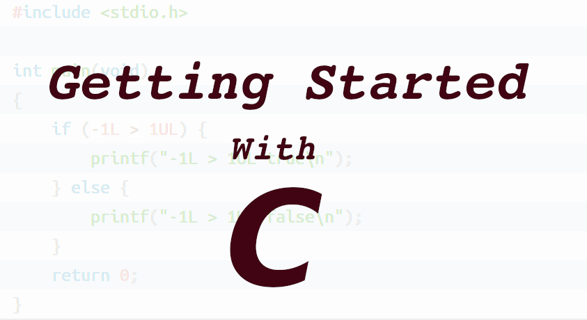 Getting started with C