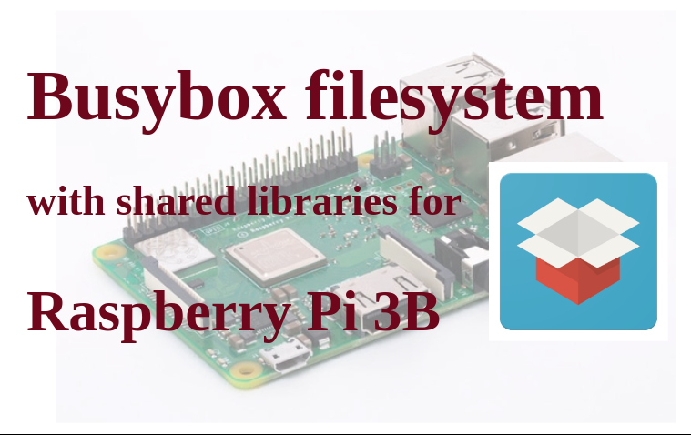 Busybox filesystem with shared libraries