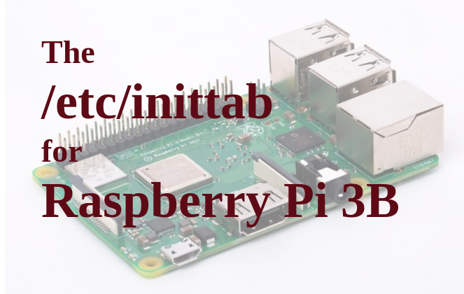System configuration and init script for Raspberry Pi 3B